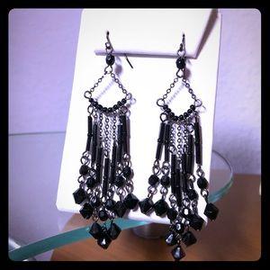 3/$25 Sale NWOT Black Beaded Drop Earrings